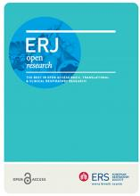 ERJ Open Research: 6 (3)