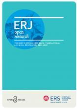 ERJ Open Research: 7 (3)